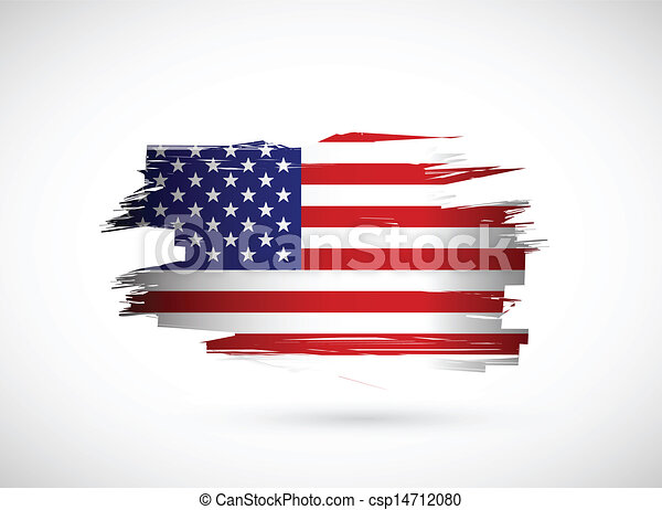 美國人, 創造性, 旗, 飛濺, 設計, 墨水 - csp14712080