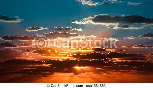 美麗, 日出 - csp1584863