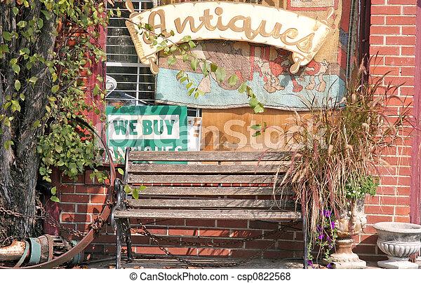 老的商店, 長凳 - csp0822568