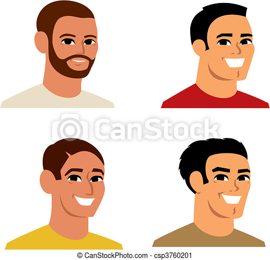 肖像, avatar, 卡通, 插圖 - csp3760201