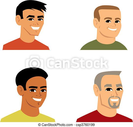 肖像, avatar, 卡通, 插圖 - csp3760199