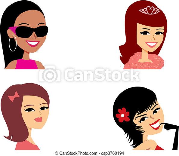 肖像, avatar, 卡通, 插圖 - csp3760194