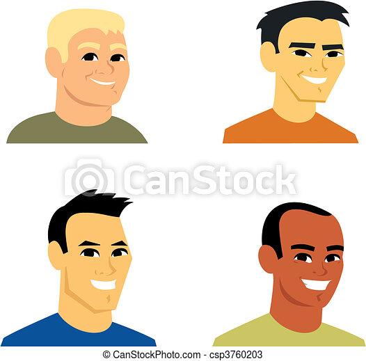 肖像, avatar, 卡通, 插圖 - csp3760203