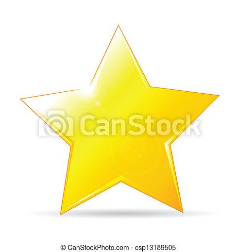 背景, 圖象, 黃金, 星, 白色 - csp13189505
