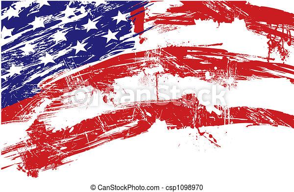 背景, 美國旗 - csp1098970
