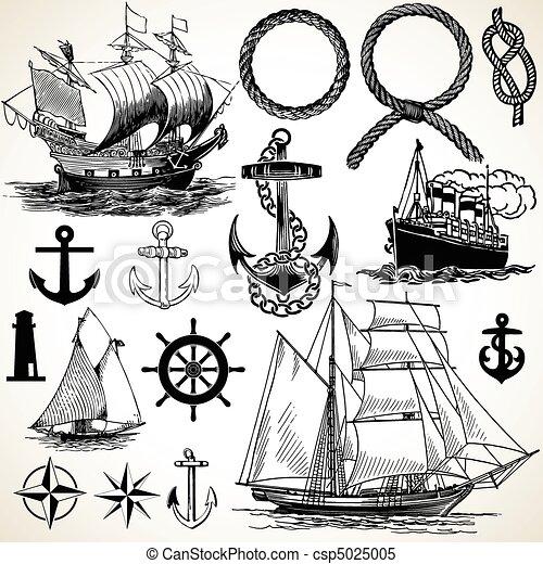 船舶, 圖象, 集合 - csp5025005