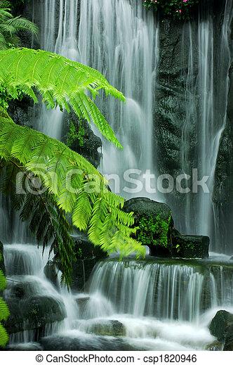 花園, 瀑布 - csp1820946