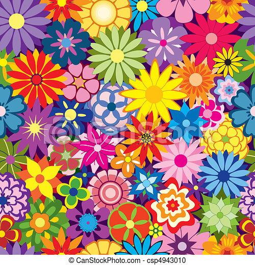 花, 鮮艷, 背景 - csp4943010