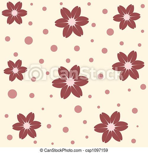 花, seamless - csp1097159