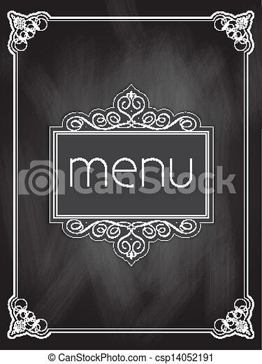 菜單, 設計, 黑板 - csp14052191