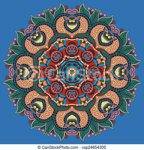 蓮花, 符號, 印第安語, 花 - csp24654305
