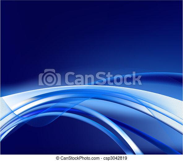 藍色的背景, 矢量, 摘要 - csp3042819