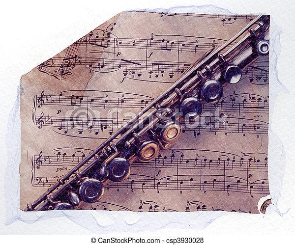 表, 長笛, 音樂 - csp3930028
