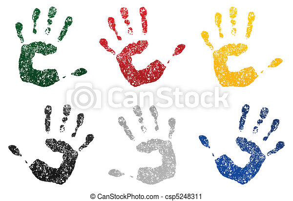 被誹謗, 插圖, 手, 矢量, paint., 印刷品 - csp5248311