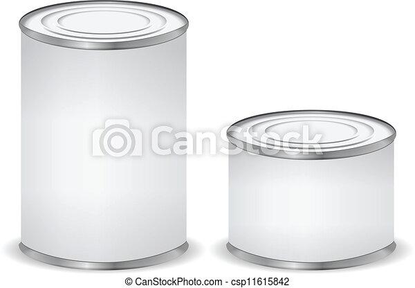 被隔离, 錫, 白色, 罐頭 - csp11615842