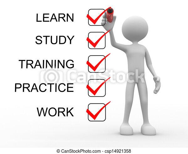 訓練, 學習, 工作, 實踐, 研究 - csp14921358
