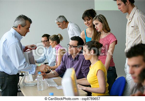 訓練, 教育, businesspeople - csp8789657