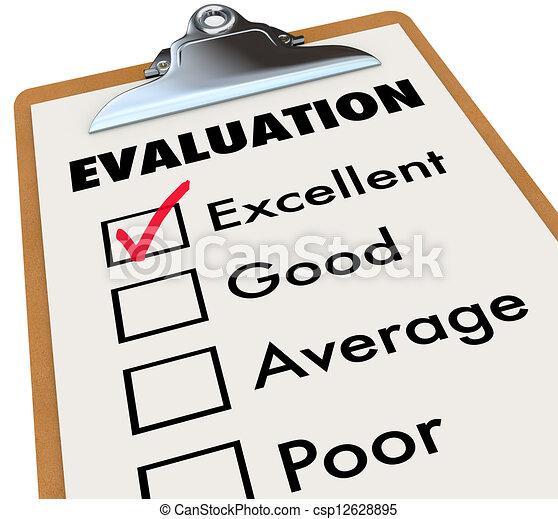 評估, 等級, 剪貼板, 報告, 評估, 卡片 - csp12628895