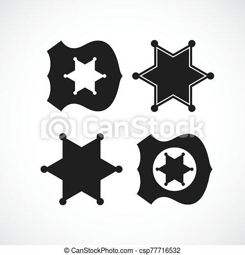 警察, 郡長徽章, 設計, 或者 - csp77716532
