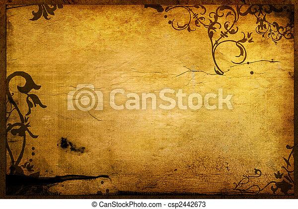 質地, 植物, 風格, 背景, 框架 - csp2442673