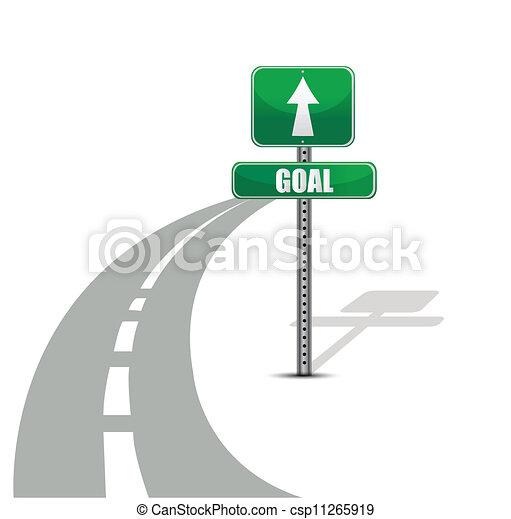 路, 設計, 目標, 插圖 - csp11265919