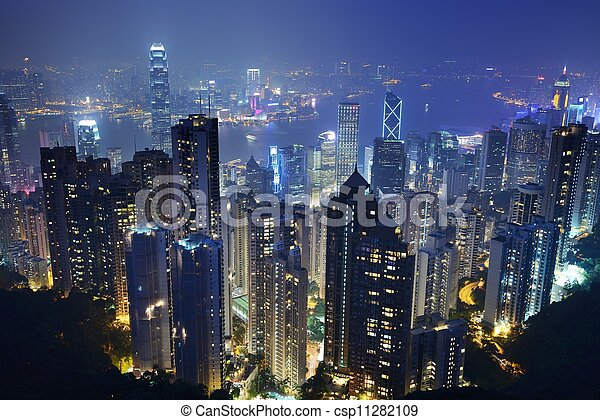 都市風景, 香港 - csp11282109
