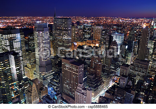都市 地平線, 空中, 城市觀點 - csp5888465
