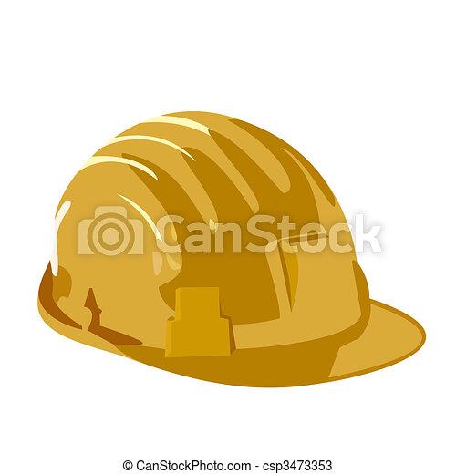 鋼盔, 白色, 被隔离, 背景 - csp3473353