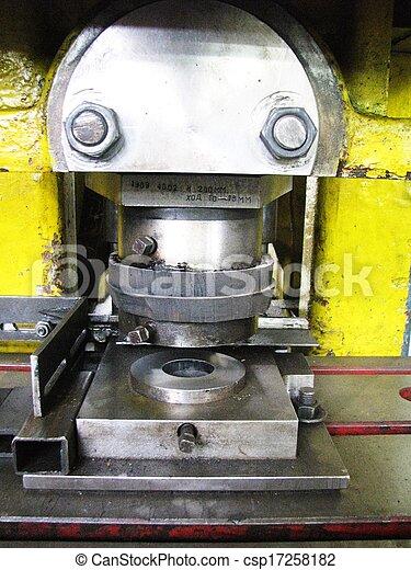 鋼, 不鏽純潔, 車床, 壓 - csp17258182