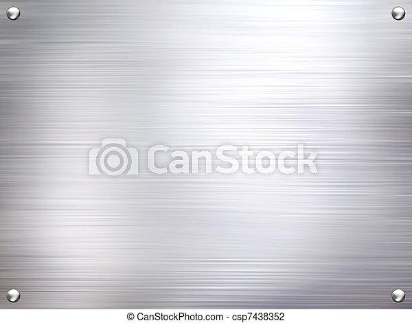 鋼, 盤子, 金屬, 背景。 - csp7438352