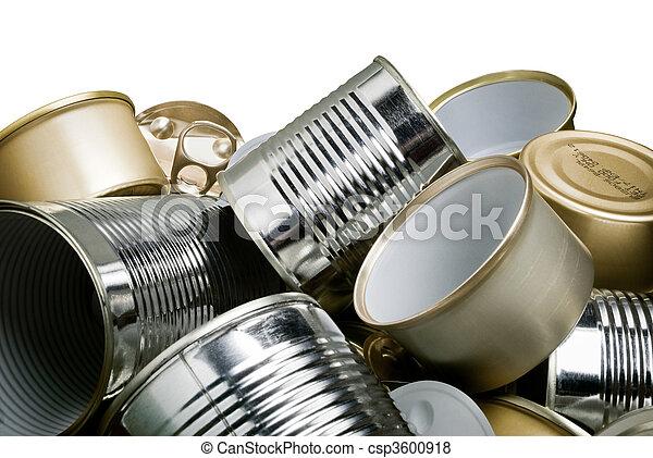 錫, 再循環, 罐頭 - csp3600918