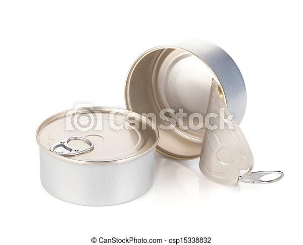 錫, 打開, 關閉, 罐頭 - csp15338832