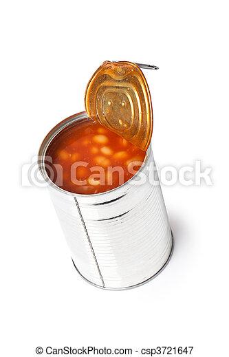 錫, 豆, 罐頭 - csp3721647