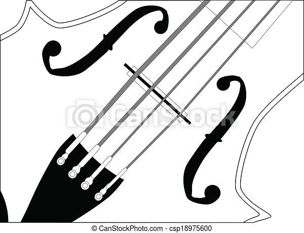 關閉, 提琴, 向上 - csp18975600