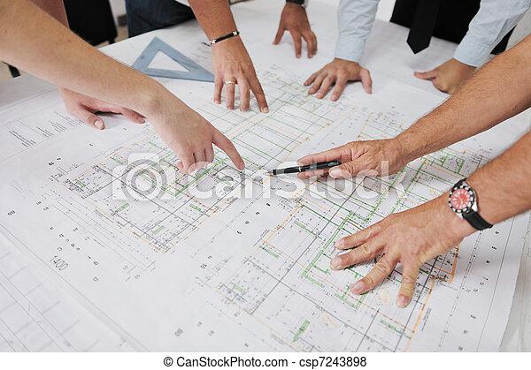 隊, 建筑師, 站點, 建設 - csp7243898