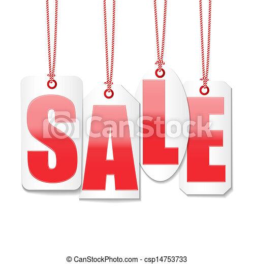 集合, 價格, 標籤, 標价拍賣, 矢量, 設計 - csp14753733