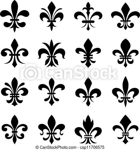 集合, 第一流, 符號, de, fleur, lys - csp11706575