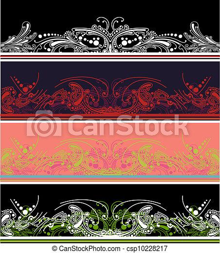 集合, 顏色, 四個元素, 設計, 邊框 - csp10228217