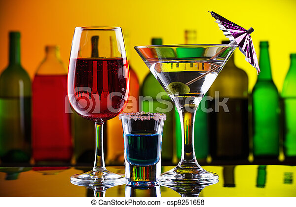 雞尾酒, 酒吧, 酒精, 喝 - csp9251658