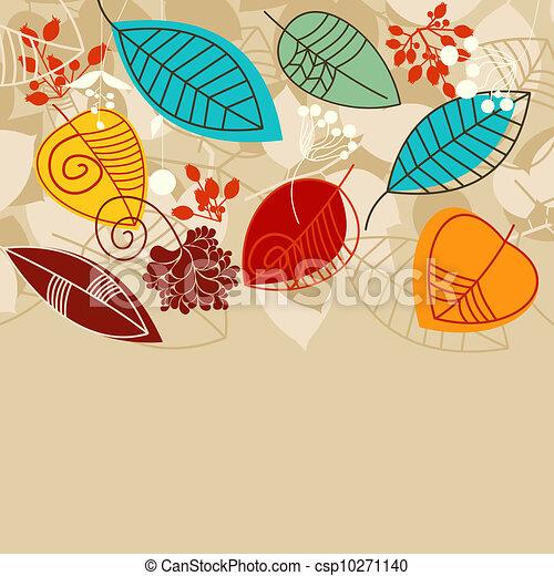 離開, 背景, 顏色, 明亮, 秋天 - csp10271140