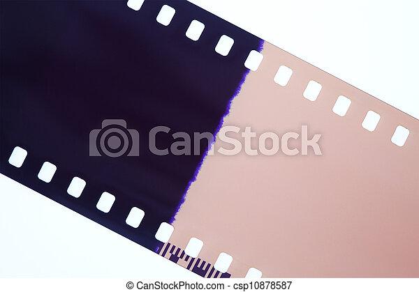 電影, 攝影, 白色, 被隔离, 背景 - csp10878587
