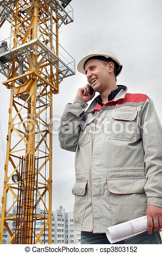 電話, 建造者, 建築工地 - csp3803152