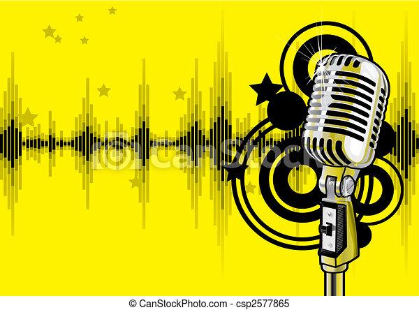 音樂, 設計, 事件, (vector) - csp2577865