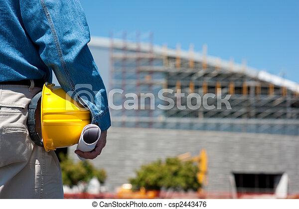 領班, 建設工人, 站點, 或者 - csp2443476