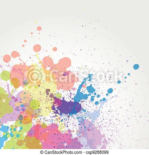 顏色, 畫, 矢量, 飛濺 - csp9288099