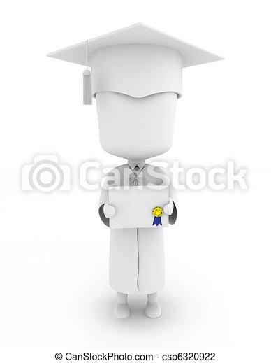 顯示, 他的, 證明, 畢業生 - csp6320922