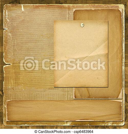 風格, 祝賀, 設計, 邀請, scrapbooking, 或者, 卡片 - csp6483964