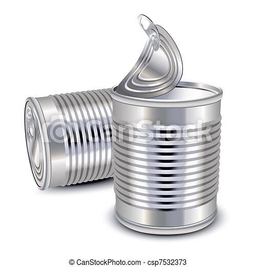 食物, 錫罐 - csp7532373