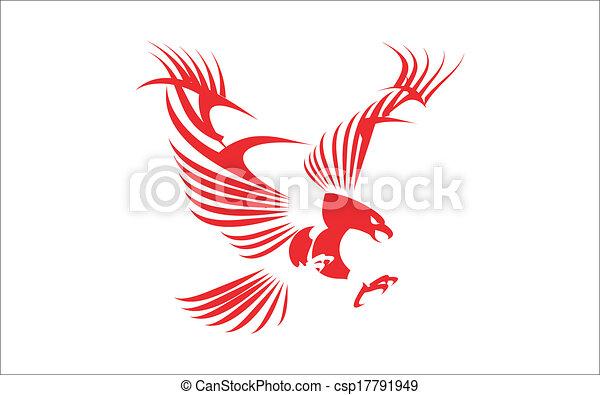 鷹, 偉大, 紅色 - csp17791949