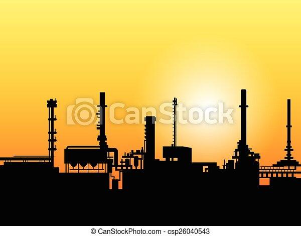 黑色半面畫像, 工廠 - csp26040543